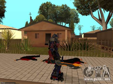 Optimus Sword para GTA San Andreas quinta pantalla