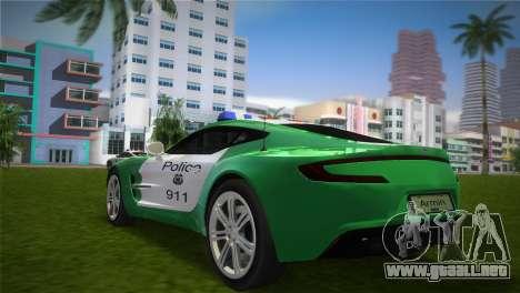 Aston Martin One-77 police para GTA Vice City left