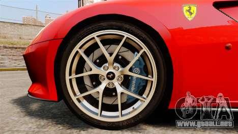 Ferrari 599 GTO PJ4 para GTA 4 vista hacia atrás