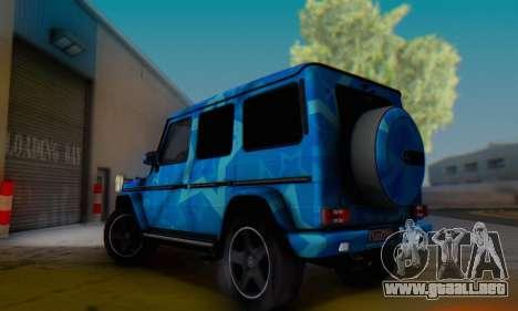 Mercedes-Benz G65 Blue Star para visión interna GTA San Andreas