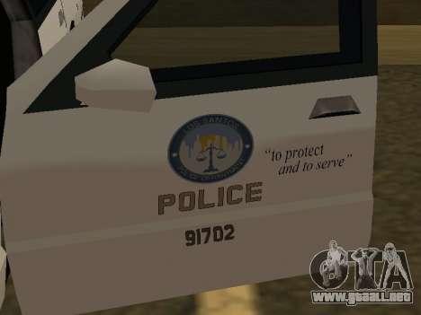 Police Original Cruiser v.4 para vista lateral GTA San Andreas