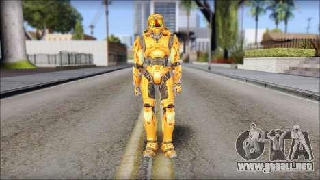 Masterchief Orange para GTA San Andreas segunda pantalla