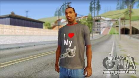 I love my gun T-Shirt para GTA San Andreas