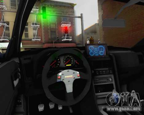 Nissan Skyline R34 Fast and Furious 4 para la vista superior GTA San Andreas