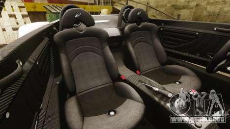 Pagani Zonda C12S Roadster 2001 v1.1 PJ2 para GTA 4 vista lateral