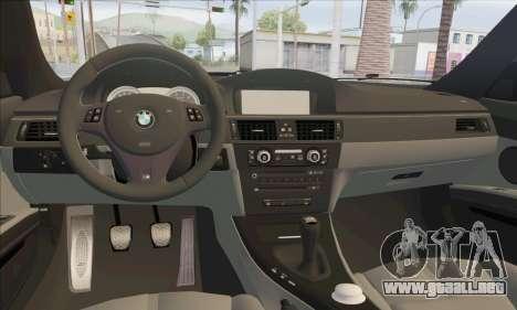 BMW M3 E92 Soft Tuning para visión interna GTA San Andreas