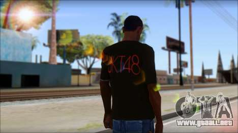JKT48 Joyfull Kawai Shirt para GTA San Andreas segunda pantalla