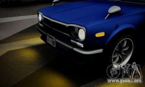 Nissan Skyline GC10 2000GT para la vista superior GTA San Andreas