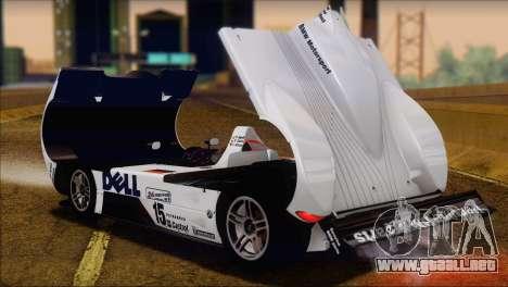 BMW 14 LMR 1999 para GTA San Andreas vista hacia atrás