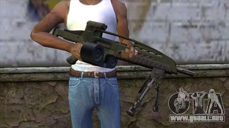 XM8 LMG Olive para GTA San Andreas tercera pantalla