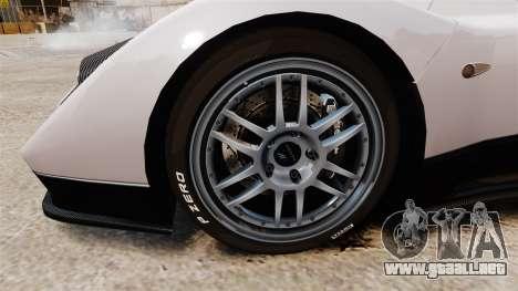 Pagani Zonda C12S Roadster 2001 v1.1 PJ2 para GTA 4 vista hacia atrás