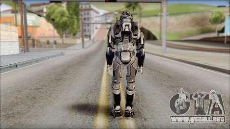 Masterchief Black from Halo para GTA San Andreas segunda pantalla