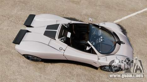 Pagani Zonda C12S Roadster 2001 v1.1 PJ2 para GTA 4 visión correcta