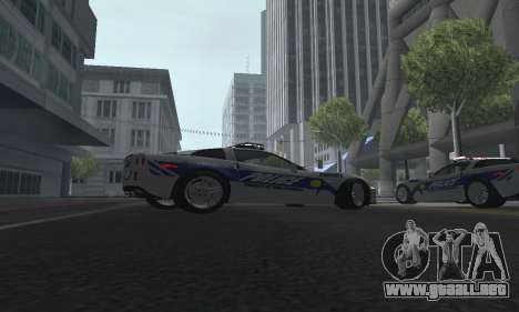 Chevrolet Corvette Z06 Police para la visión correcta GTA San Andreas