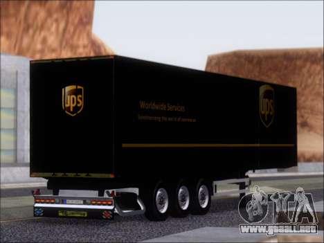Прицеп United Parcel Service para la visión correcta GTA San Andreas
