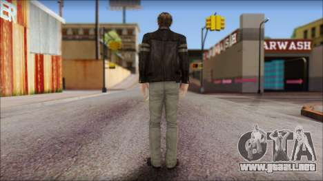 Leon Kennedy from Resident Evil 6 v1 para GTA San Andreas segunda pantalla