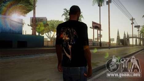 Avenged Sevenfold Reaper Reach T-Shirt para GTA San Andreas segunda pantalla