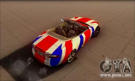 Jaguar XK 2007 para GTA San Andreas vista hacia atrás