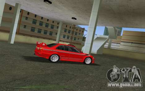 Mitsubishi Lancer Evolution 6 Tommy Makinen Edit para GTA Vice City vista lateral izquierdo