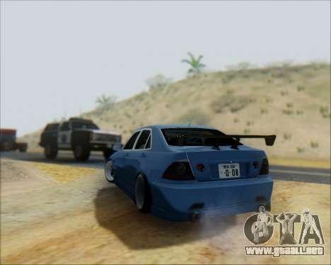 Toyota Allteza C-West para GTA San Andreas vista hacia atrás