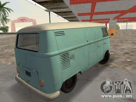 Volkswagen Type 2 T1 Van 1967 para GTA Vice City left