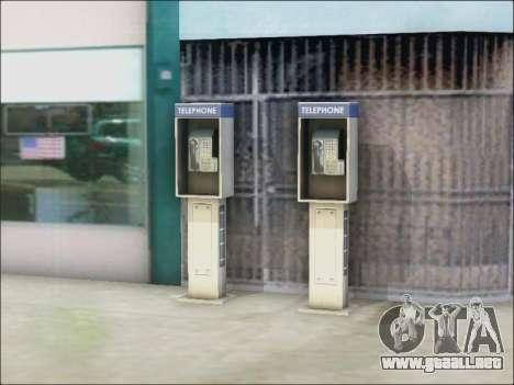Calle de teléfono para GTA San Andreas tercera pantalla