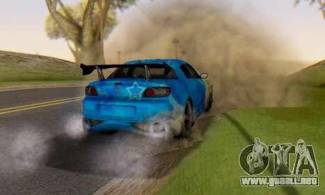 Mazda RX-8 VeilSide Blue Star para la vista superior GTA San Andreas
