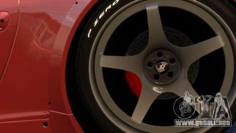 Porsche 911 GT3RSR para GTA 4 vista hacia atrás