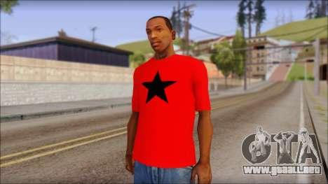 Vidick from Infected Rain Red T-Shirt para GTA San Andreas