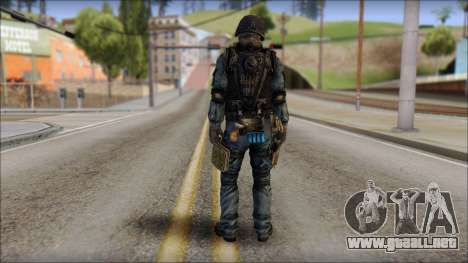 Tactical GIGN from Soldier Front 2 para GTA San Andreas segunda pantalla