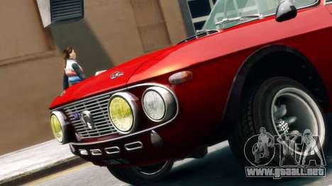 Lancia Fulvia HF para GTA 4 Vista posterior izquierda
