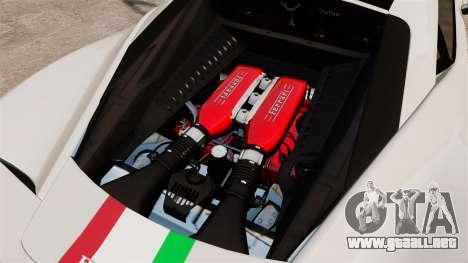 Ferrari 458 Italia Speciale Novitec Rosso para GTA 4 vista interior