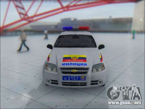 Chevrolet Aveo Милиция OHP para vista inferior GTA San Andreas