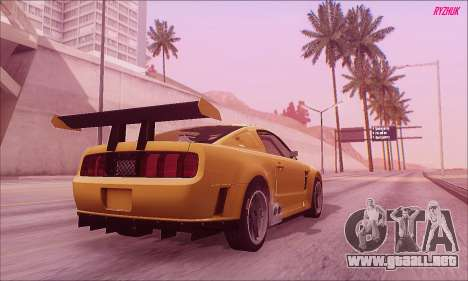 Ford Mustang GTR para GTA San Andreas left