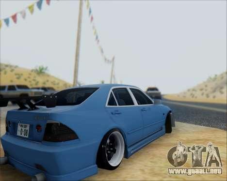 Toyota Allteza C-West para la visión correcta GTA San Andreas