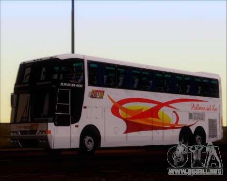 Busscar Jum Buss 400 Volvo B10R Pullman Del Sur para GTA San Andreas vista hacia atrás
