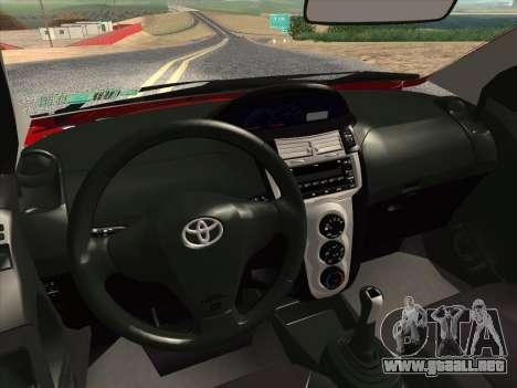 Toyota Yaris 2008 Sedan para GTA San Andreas interior