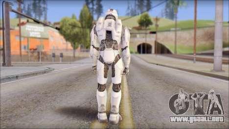 Masterchief White para GTA San Andreas segunda pantalla