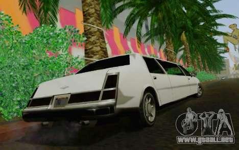 Washington Limousine para GTA San Andreas vista posterior izquierda