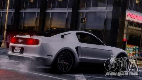 Ford Mustang GT 2014 Custom Kit para GTA 4 vista desde abajo