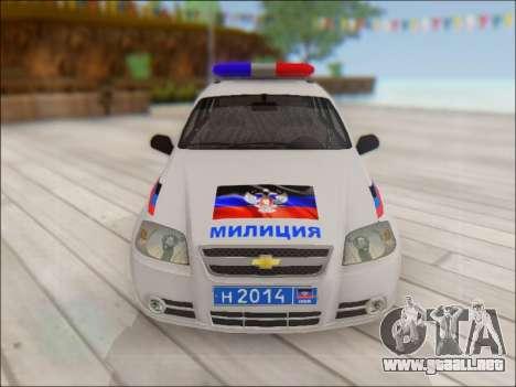 Chevrolet Aveo Policía no molestar para vista lateral GTA San Andreas