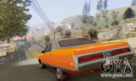 Chrysler New Yorker 1971 para GTA San Andreas vista hacia atrás