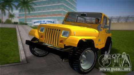 Jeep Wrangler 1986 v4.0 Fury para GTA Vice City