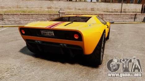 Vapid Bullet RS para GTA 4 Vista posterior izquierda
