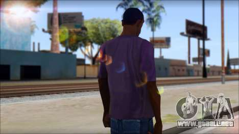 Monkey T-Shirt para GTA San Andreas segunda pantalla