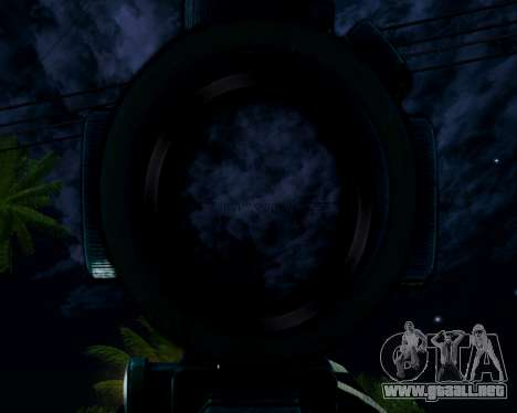 Sniper skope mod para GTA San Andreas sucesivamente de pantalla