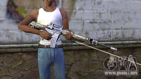 M4A1 con mira láser para GTA San Andreas tercera pantalla