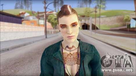 Clara Lille From Watch Dogs para GTA San Andreas tercera pantalla