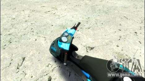 Yamaha Aero X Polini para GTA 4 visión correcta
