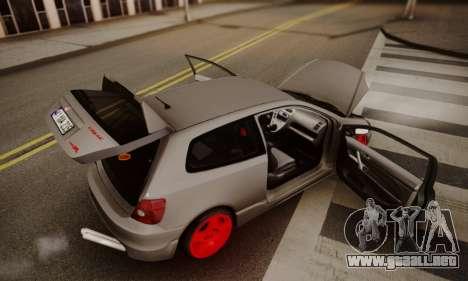 Honda Civic TypeR para visión interna GTA San Andreas